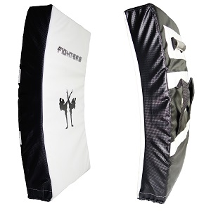 FIGHTERS - Kicking Shield / Curved / White-Black